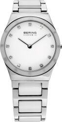 Bering Time - Ladies White Ceramic Link Watch with Swarovski Crystals 32230-764 (Womens) - CLEARANCE