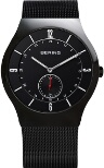 Bering Time - Classic - Mens Black Mesh Watch with Black Dial 11940-222 - CLEARANCE