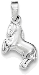 Sterling Silver Childrens Horse Pendant