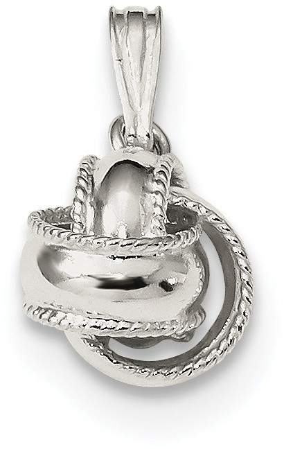 Sterling Silver Polished Love Knot Pendant QC9025
