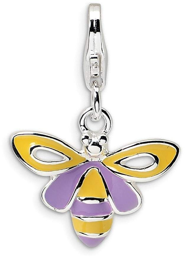 Sterling Silver Enameled Bee w/ Lobster Clasp Charm