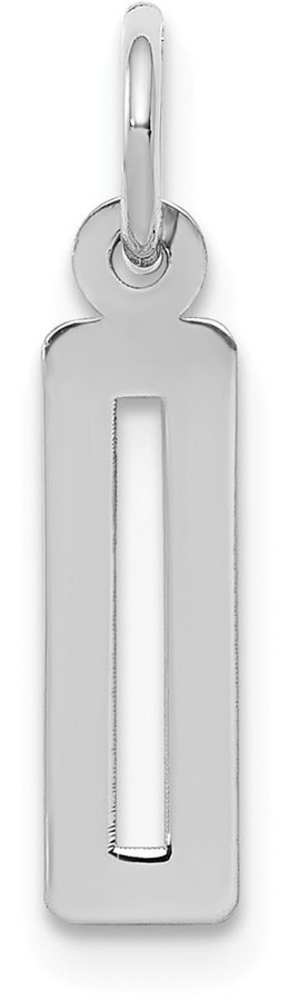 Sterling Silver Small Elongated Polished Number 0 Charm