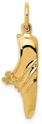 14K Yellow Gold Jogging Shoe Charm
