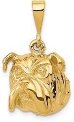 14K Yellow Gold Bulldog Pendant C523