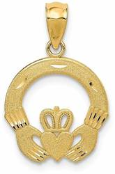 14K Yellow Gold Claddagh Pendant M298