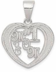 Sterling Silver # 1 Mom Pendant