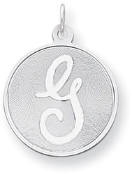 Sterling Silver Brocade-Like Initial G Charm QC4162G