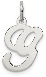 Sterling Silver Stamped Initial G Charm