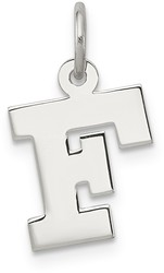 Sterling Silver Small Block Initial F Charm