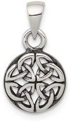 Sterling Silver Antiqued Open Back Celtic Design Pendant