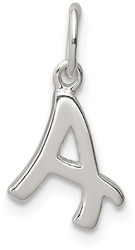 Sterling Silver Initial A Pendant QC6511A