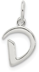 Sterling Silver Initial D Pendant QC6511D