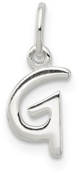 Sterling Silver Initial G Pendant QC6511G