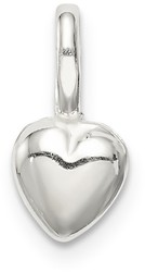 Sterling Silver Puffed Heart Pendant QC6723