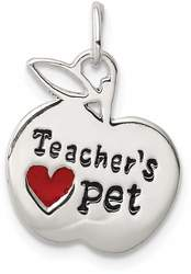 Sterling Silver Teacher's Pet Charm