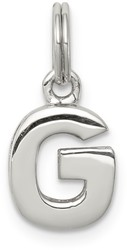 Sterling Silver G Charm