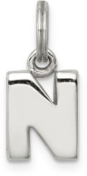 Sterling Silver N Charm
