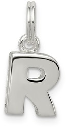 Sterling Silver R Charm