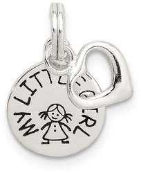 Sterling Silver Enameled My Little Girl 2-Piece Charm