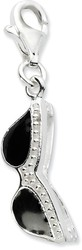 Sterling Silver Click-On Enamel Sunglasses Charm