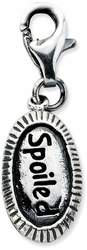 Sterling Silver Antiqued Spoiled w/ Lobster Clasp Charm