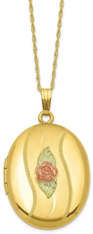 "18"" 14k Gold-filled w/ 12k Accents Black Hills Locket Pendant Necklace 10BH677"