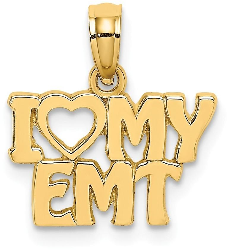 14K Yellow Gold I Love My EMT Pendant
