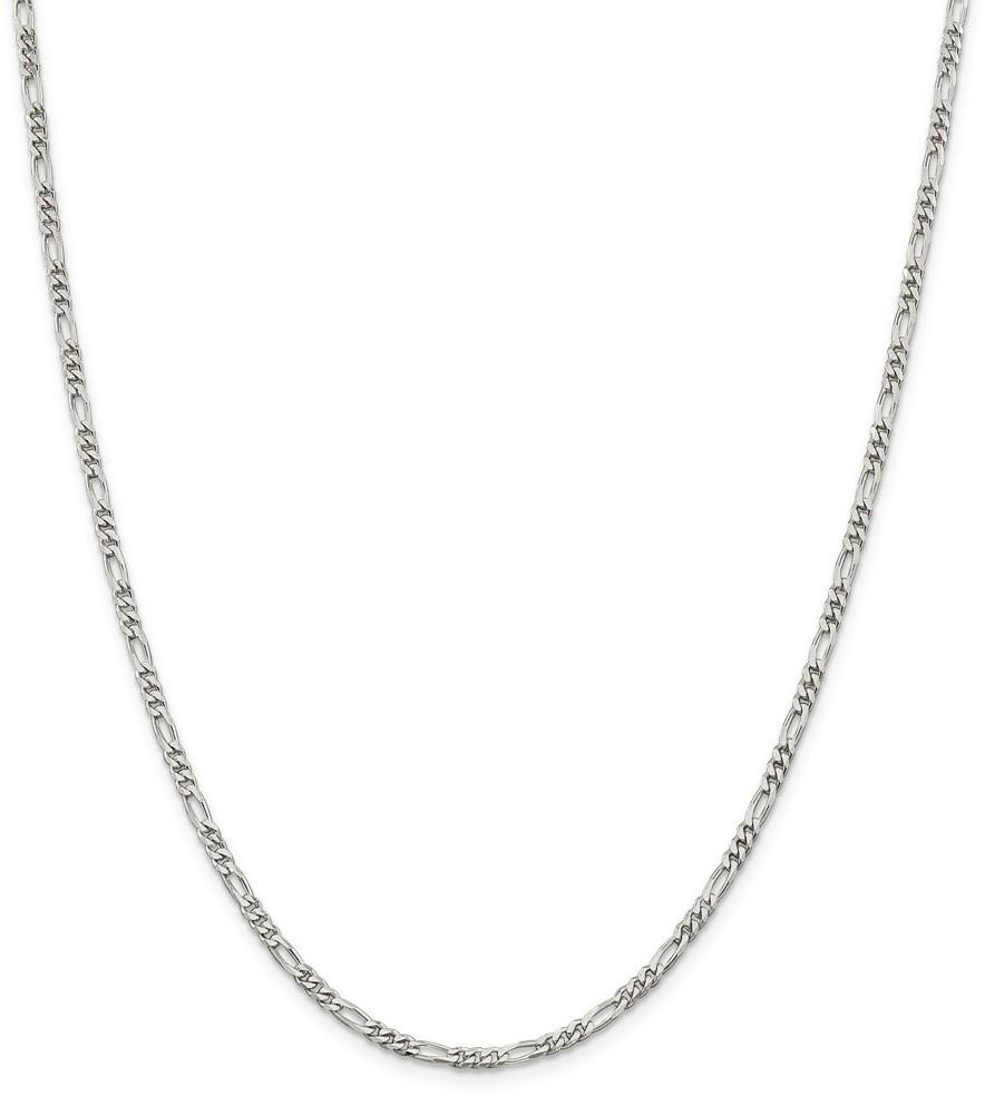"10"" Sterling Silver 2.85mm Figaro Chain Anklet"
