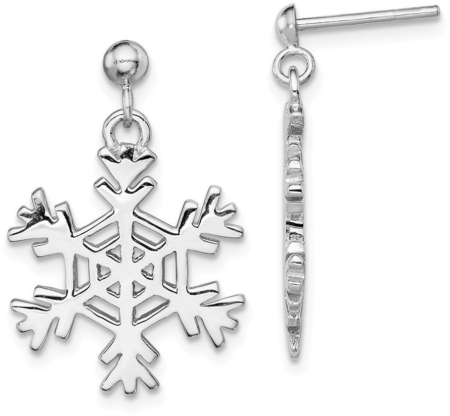 Sterling Silver Snowflake Earrings and Pendant Set