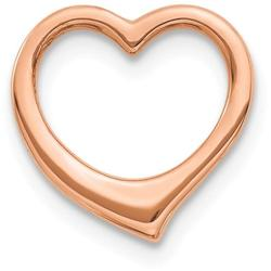 10k Rose Gold Polished Heart Slide Pendant 10C2917R