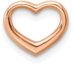 10k Rose Gold Polished Heart Slide Pendant 10K7108R
