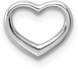 10k White Gold Polished Mini Floating Heart Slide Pendant