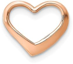 10k Rose Gold Polished Heart Slide Pendant 10K7119R
