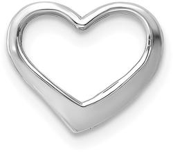 10k White Gold Floating Heart Pendant