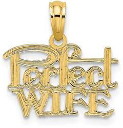 14K Yellow Gold Perfect Wife Pendant K2688
