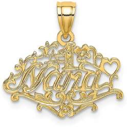 14K Yellow Gold #1 Nana Pendant K8803