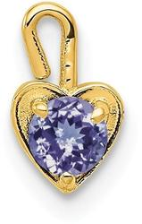 10k Yellow Gold June Simulated Birthstone Heart Charm