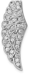 Sterling Silver Rhodium-Plated CZ Wing Pendant