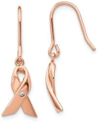 Cheryl M Rose Gold-Plated Sterling Silver Awareness Shepherd Hook Earrings