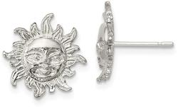 Sterling Silver Sun Mini Earrings QE118