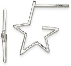 Sterling Silver Star Post Earrings QE14569
