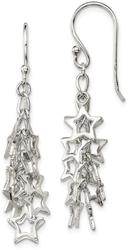 Sterling Silver Multi-Stars Dangle Earrings