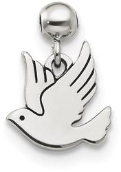Sterling Silver Mio Memento Dangle Bird Bead Slide Charm