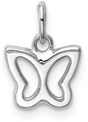 14K White Gold Cut-Out Butterfly Pendant YC1355