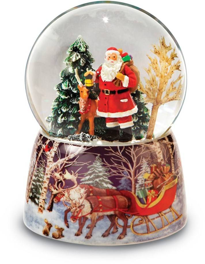 Santa and Reindeer Snow Globe (Gifts)