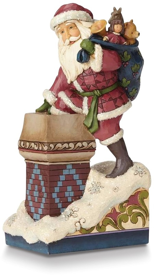Heartwood Creek Victorian Santa by Chimney Figurine