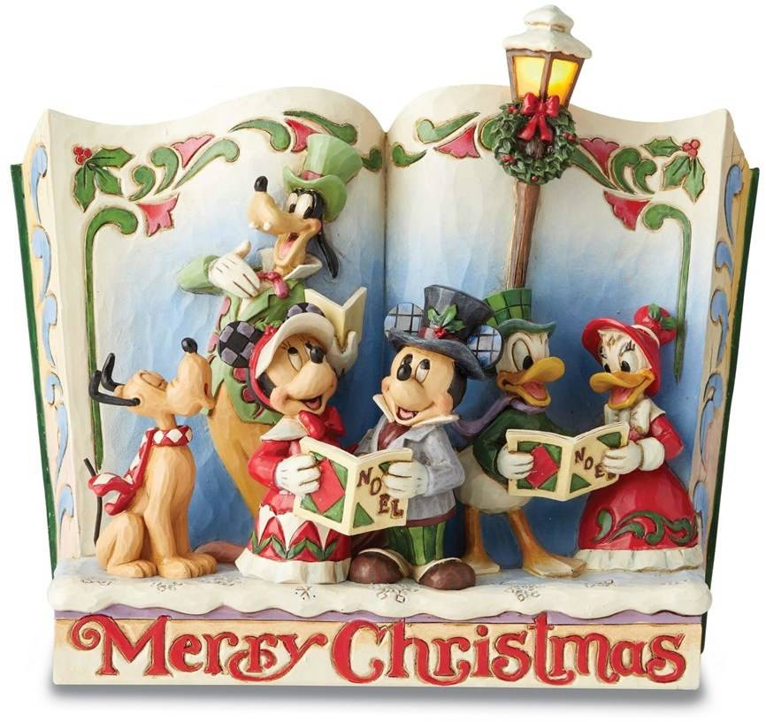 DISNEY TRADITIONS Mickey and Friends Storybook Christmas Figurine