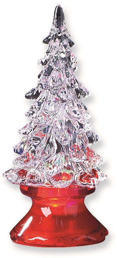 4In LED Christmas Tree w/Red Base