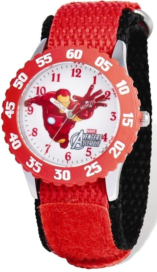 Marvel Avengers Iron Man Red Velcro Band Time Teacher Watch