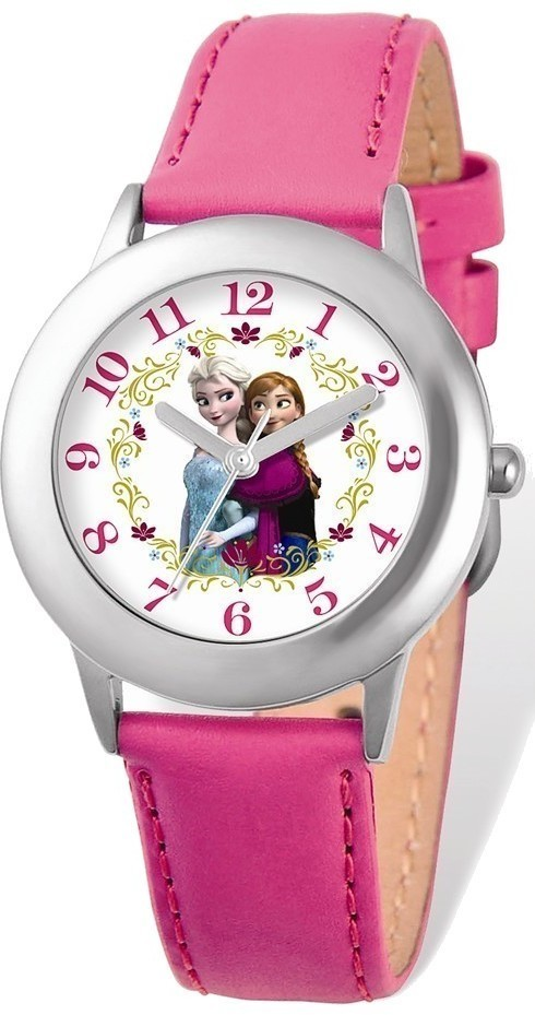 Disney Frozen Elsa/Anna Pink Leather Tween Watch